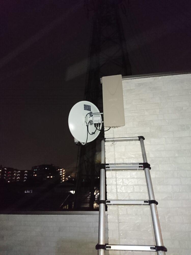 デザインアンテナとBS/CSアンテナの設置