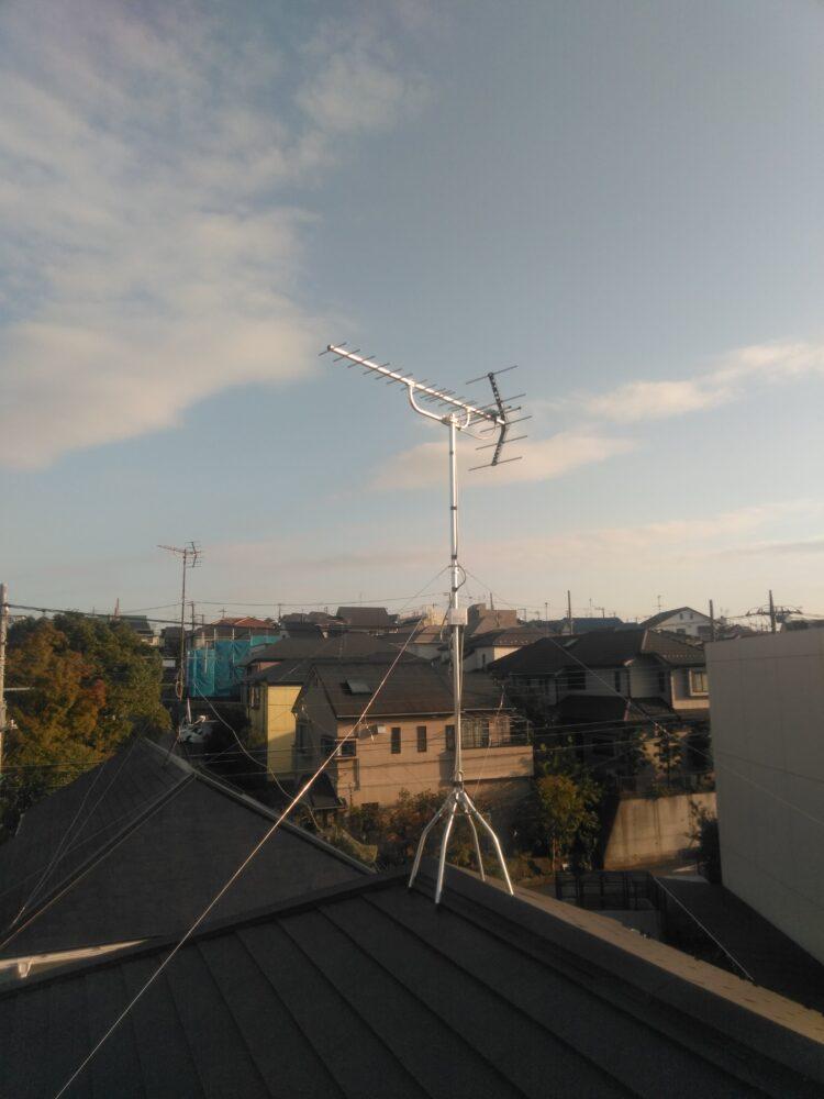 新しく立てた八木式アンテナ