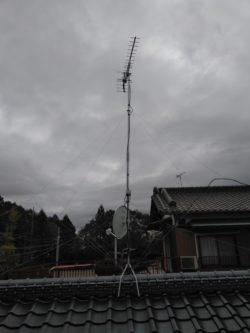 3.6Mのマストにつけた八木式アンテナ